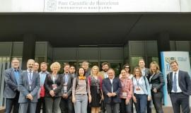 Delegação no Parque Científico de Barcelona