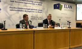 Rômulo de Oliveira e Carlos Eduardo Gouvêa, presidente da Aliança Brasileira da Indústria Inovadora em Saúde (ABIIS)