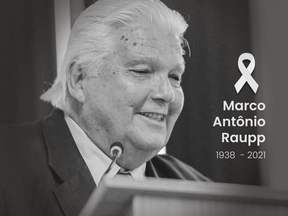 Foto com homenagem da Anprotec a Marco Antônio Raupp